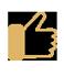 Facebook Like-Symbol Daumen hoch