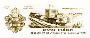 Produktionsstätte PICK Salami in Szeged um 1869