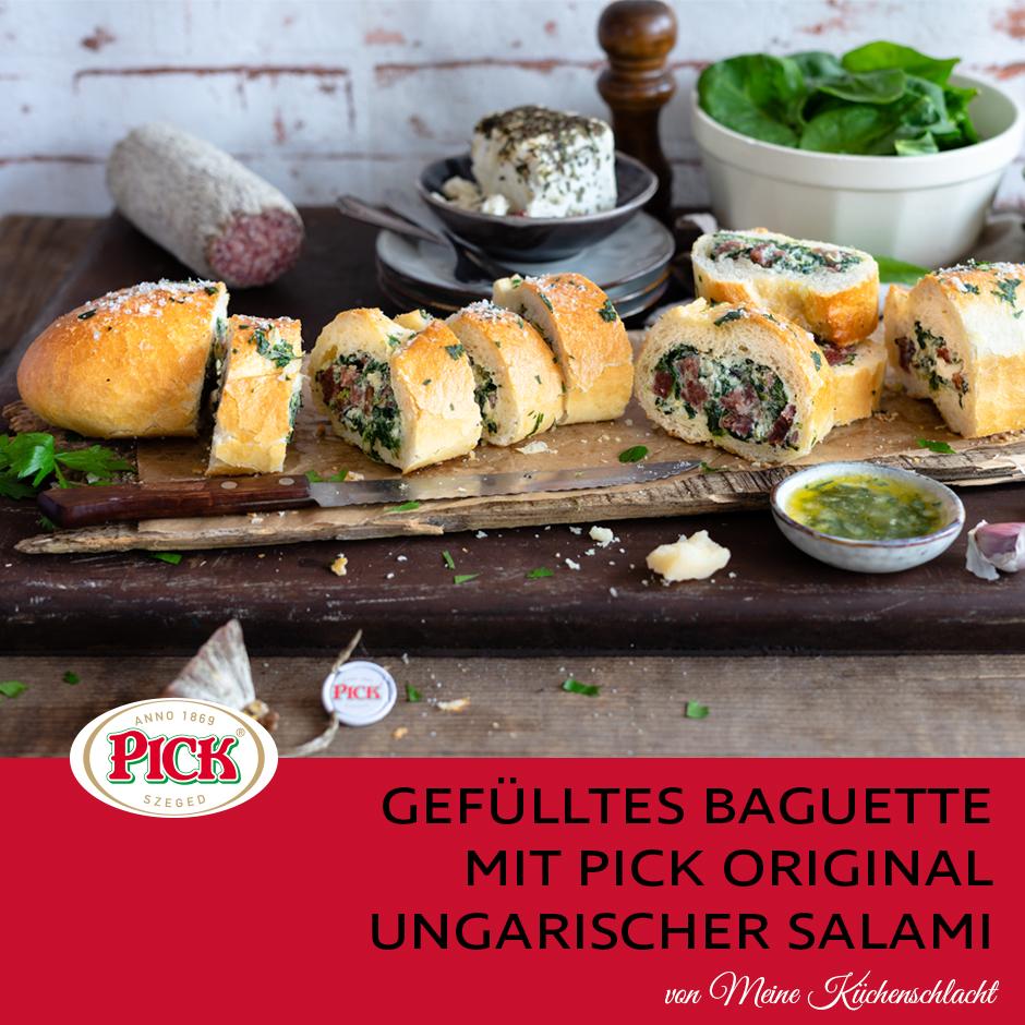 Rustikales Sandwich mit PICK Original Ungarischer Salami