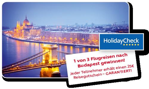 1 von 3 Flugreisen nach Budapest gewinnen!